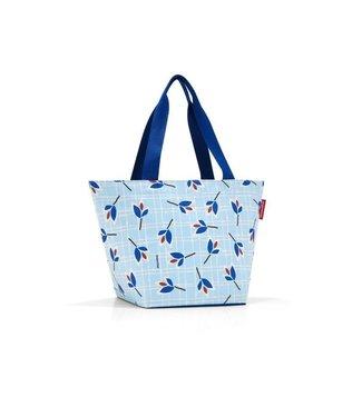 Reisenthel  Reisenthel Tasche Shopper M Leaves Blue Hellblau/Dunkelblau