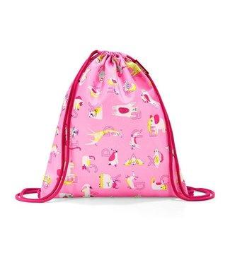 Reisenthel  Reisenthel Turnsack Mysac Kids ABC Friends Pink Tiere