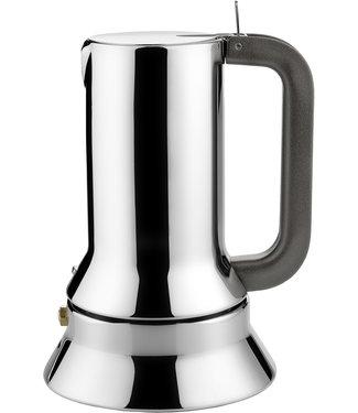 Alessi Alessi Espressokocher aus Edelstahl 18/10. Magnetboden aus Stahl für Induktionsherde geeignet. 3 Tassen.
