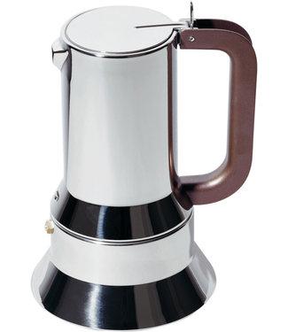 Alessi Alessi Espressokocher aus Edelstahl 18/10. Magnetboden aus Stahl für Induktionsherde geeignet. 10 Tassen.