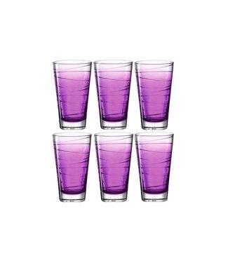 Leonardo Leonardo Trinkglas Vario Struttura 280 ml, 6 Stück, Violett