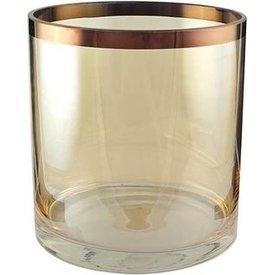 Vase/Windlicht Amber