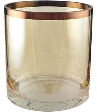 KAHEKU Vase/Windlicht Amber