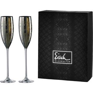 Eisch Glas Sektgläser/Champagnerglas Exklusiv platin - 2 Stück im Geschenkk. von Eisch