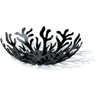 ALESSI ALESSI Mediterraneo Obstschale aus Edelstahl, epoxidharzlackiert, schwarz.