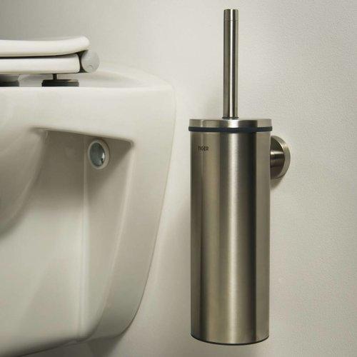 Toiletborstelhouder Boston Muur Rvs Geborsteld 35.6 Cm