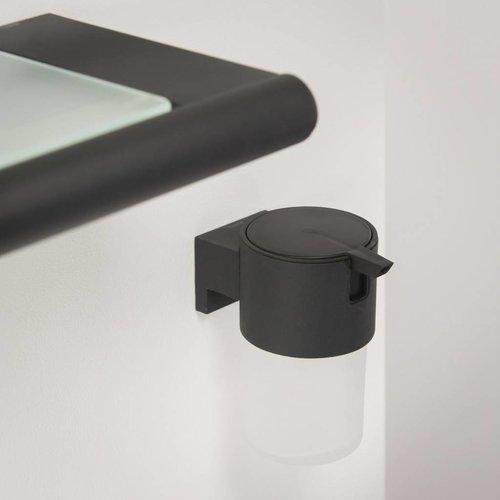 Zeepdispenser Bold Muur Rond Glas/Zwart