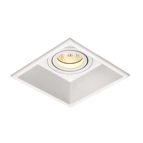 Inbouw Spot Led Vierkant Zwart Of Wit Aluminium (1 Stuks)