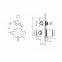 Thermostaatkraan Nero Gloss Inbouw 2-Weg 1/2 Rvs Mat Zwart