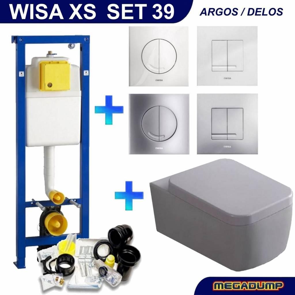 Xs Toiletset 39 Aqua Splash Larx Met Argos/Delos Drukplaat
