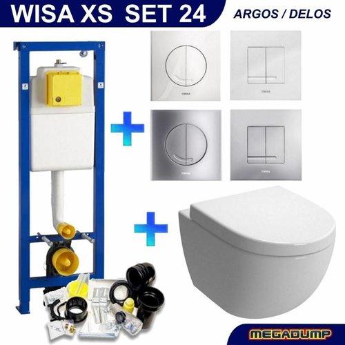 Xs Toiletset 24 Aquasplash Zero Diepspoel Met Argos/Delos Drukplaat