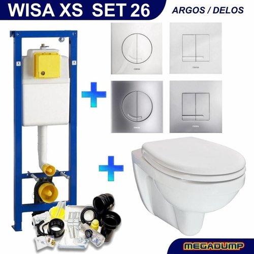 Xs Toiletset 26 Aqua Splash Trevi Compact Met Bril En Drukplaat