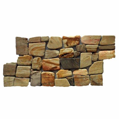 Mozaïek Hout Petrified Wood 15X30 Cm (Prijs Per 1M²)