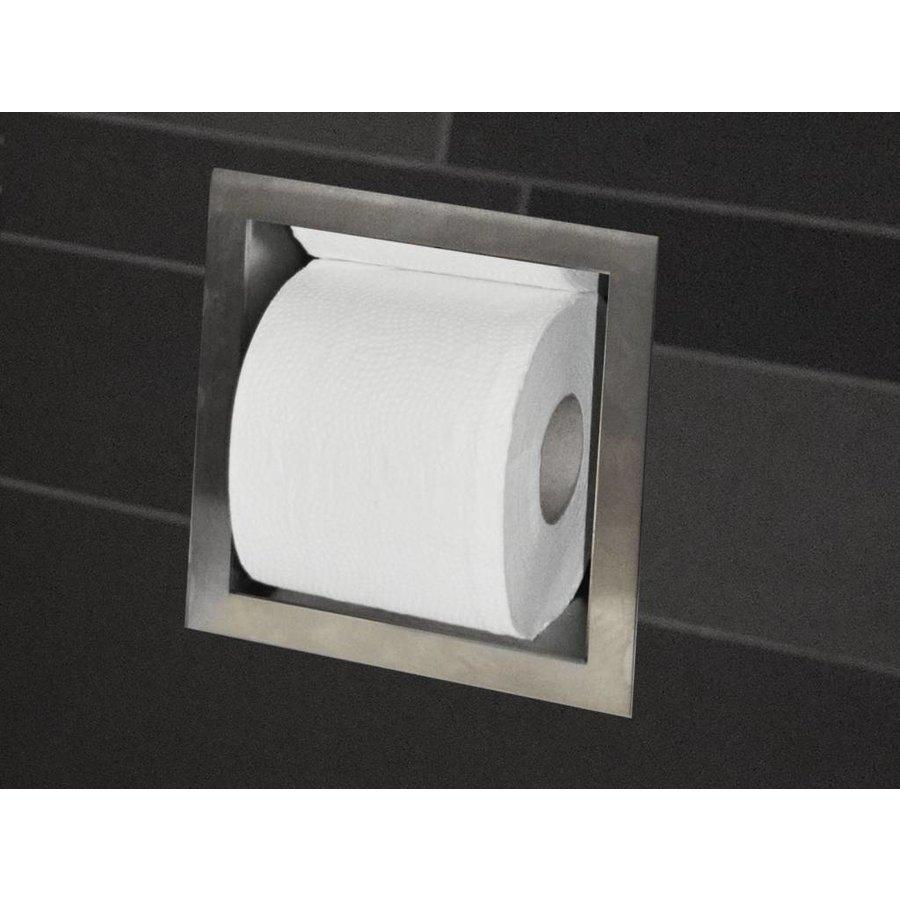 Wc Rolhouder Rvs.Aqua Splash Toilet Reserve Rolhouder Inbouw Rvs