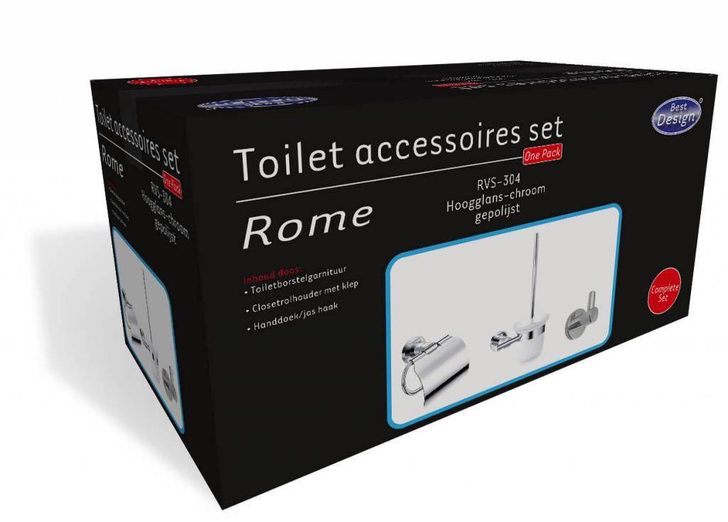 Rome Toilet Accessoires Set