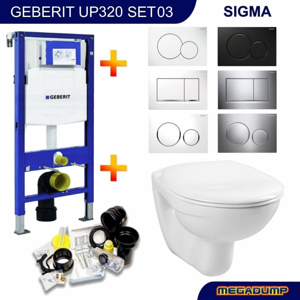 e5279750a01 Geberit Up320 Toiletset 03 Megasplash Basic Smart Met Bril En ...