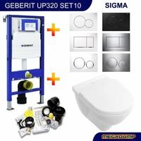Up320 Toiletset 10 Villeroy & Boch O.Novo Met Bril En Drukplaat