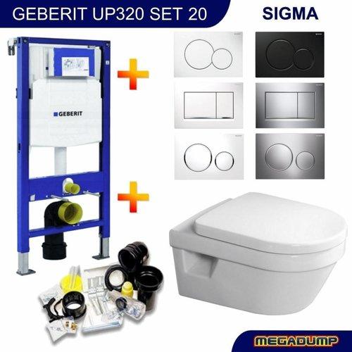 Up320 Toiletset 20 Villeroy & Boch Omnia Architectura Direct flush Met Bril En Drukplaat