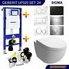 Geberit Up320 Toiletset 24 Aquasplash Zero Diepspoel Met Sigma Drukplaat