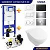 Geberit Up320 Toiletset 30 Villeroy & Boch O.Novo Directflush Met Bril En Drukplaat