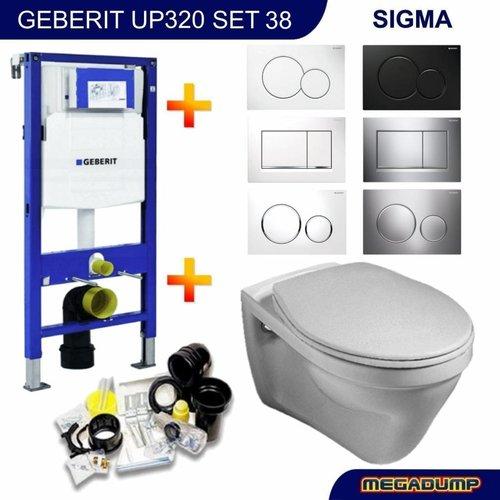 Up320 Toiletset 38 Gustavsberg Saval Met Bril En Drukplaat