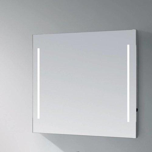Spiegel Deline Led Verlichting Aluminium Geborsteld (In 6 Maten)