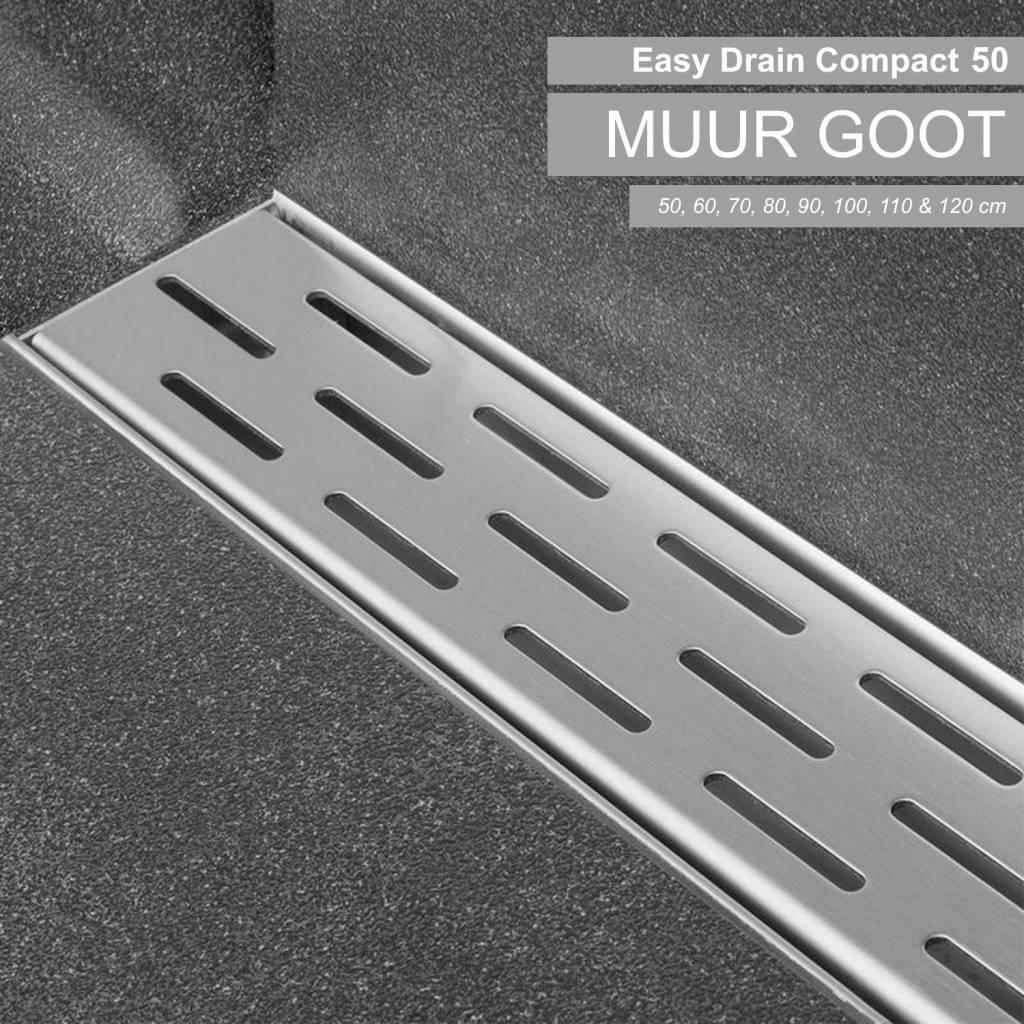 Compact 50 Muurgoot 6,3cm diep 70 t/m 120 cm
