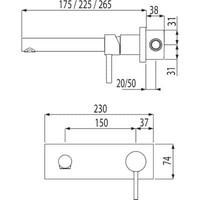Alp Inbouw mengkraan 250mm 20320001
