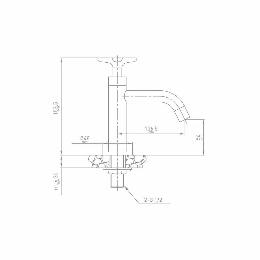 Fonteinkraan Sign 11.7x26x6.6 cm Chroom