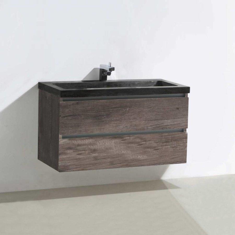 Badmeubel Trend Stone 100cm 2 laden + spiegel (in 4 kleuren)