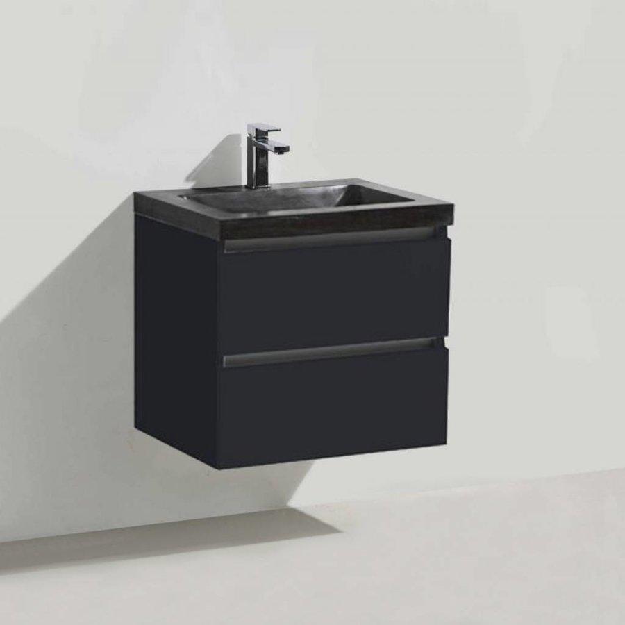 Badmeubel Trend Stone 60cm 2 laden + spiegel (in 4 kleure)