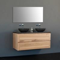 Badmeubelset Wood Dynasty Inclusief Spiegel (In 4 Maten Verkrijgbaar)