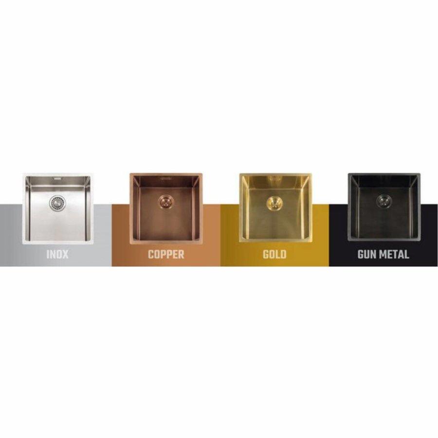 Fontein Lanesto Vanity 22x40x10 cm RVS Gold (excl kraan incl waste)