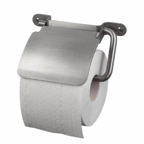 Toiletrolhouder Ixi met Klep RVS Look
