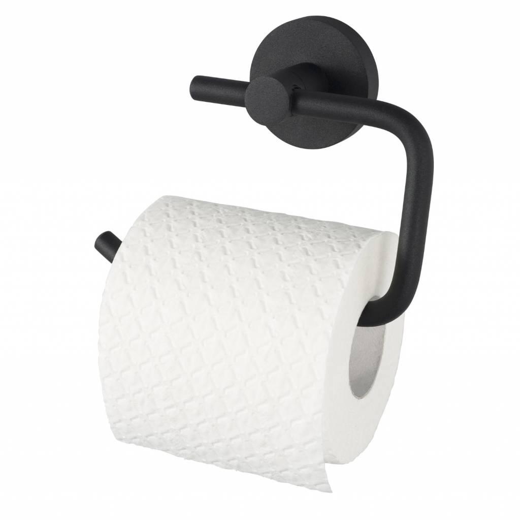 Toiletrolhouder Kosmos Zonder Klep Mat Zwart Haceka
