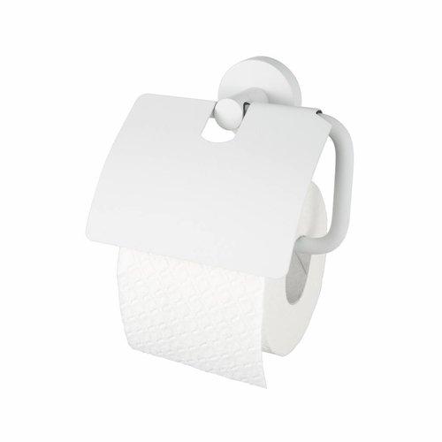 Toiletrolhouder Kosmos met Klep Mat Wit