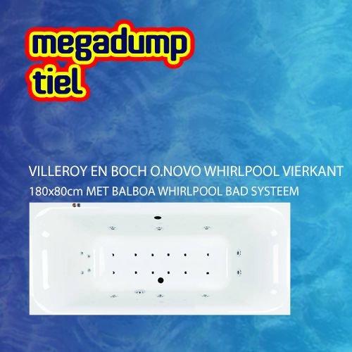 O.Novo Whirlpool Vierkant 180X80X48 Cm Met Balboa Whirlpool Bad Systeem