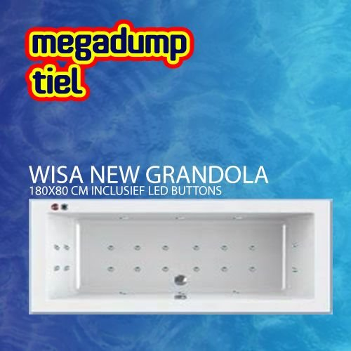 New Grandola Whirlpool 180X80X60/65 Cm Inclusief Led Buttons