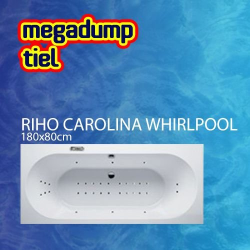 Ligbad Carolina 180X80X48 Cm Sportpakket Deluxe Whirlpool
