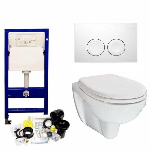 Up100 Toiletset 26 Aqua Splash Trevi Compact Met Bril En Drukplaat