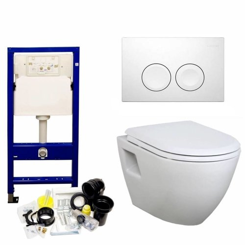 Up100 Toiletset 28 Creavit Tp325 Wit Met Softclose Zitting
