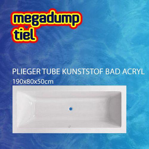 Tube Kunststof Bad Acryl Rechthoekig 190X80X50Cm M. Poten Wit