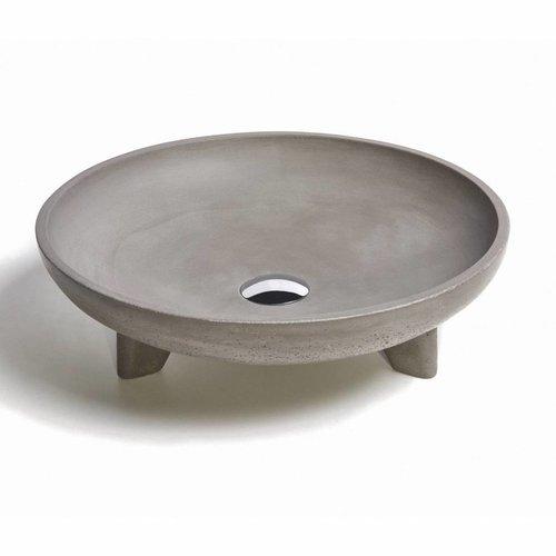 Opzet Wastafel  Caldera Beton 43.5x11.5 cm (6 Kleuren)