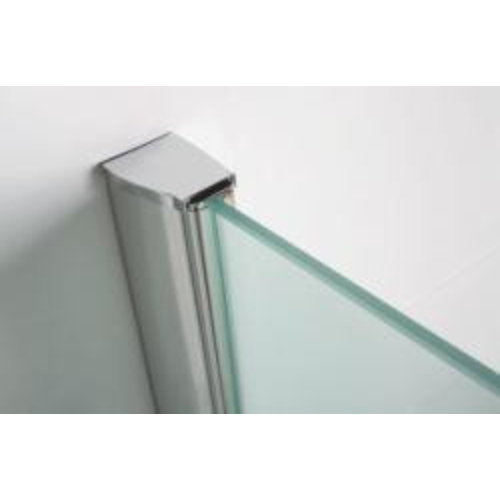 Wiesbaden chroom muurprofiel glaswand dikte 1cm L=200cm