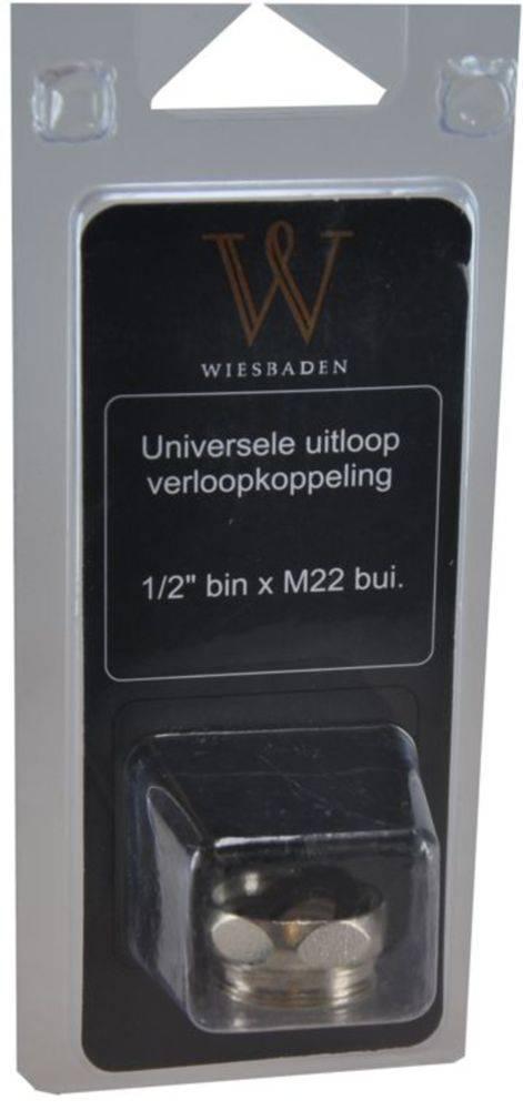 Wiesbaden uitloop koppeling 1/2'' bin x M22 bui