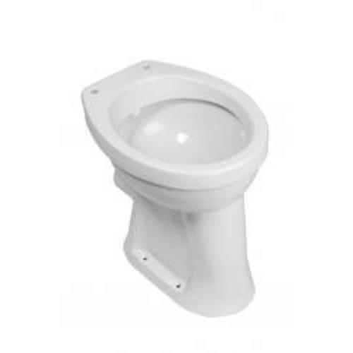 Wiesbaden staande verhoogde toiletpot +6 PK wit
