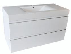 Wiesbaden Tigris badkamer onderkast + wastafel + 2 laden 1000x580x460 wit