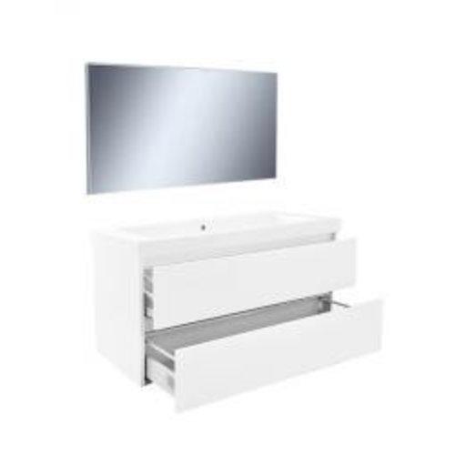 Wiesbaden Vision meubelset (incl. spiegel) 100 cm wit