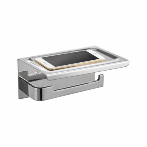 Toiletrolhouder met Telefoonplankje Best Design 18x12 cm Chroom (zonder telefoon)