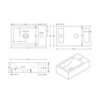 Hardsteen Fonteinset Hiroko 11X23X40 Cm